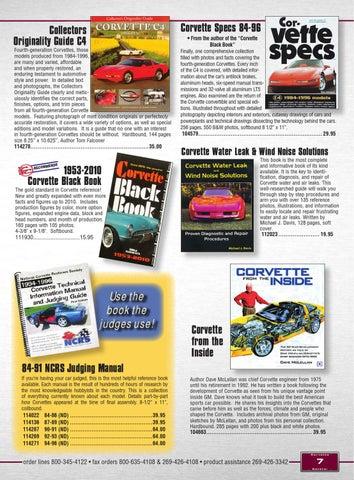 Corvette Central C4 (84-96) Corvette Parts Catalog by