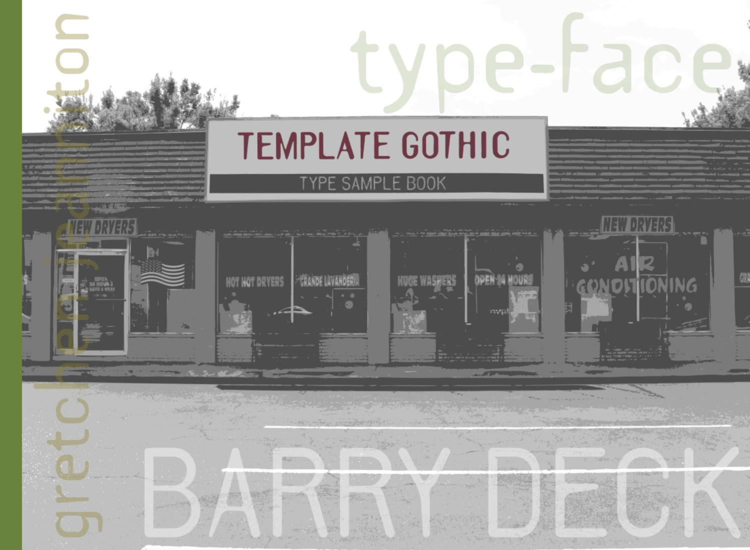 template gothic type sample book by gretchen jeanniton issuu
