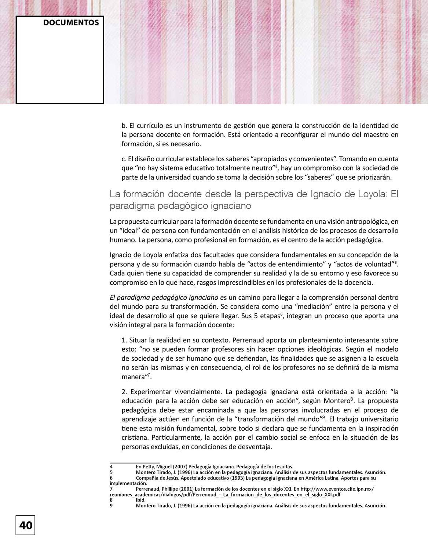 Carta de AUSJAL 37: Vigencia y modos de inserción de la Pedagogía ...