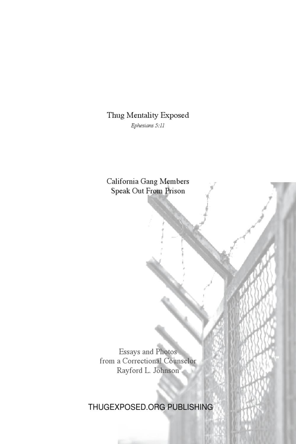 Thug Mentality Exposed Book by ThugExposed.Org   issuu