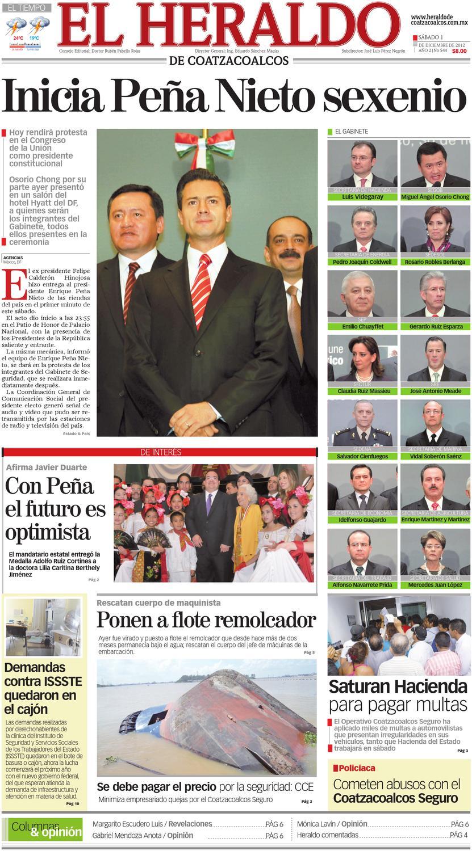 Heraldo de Coatzacoalcos 01dic2012 by El Heraldo de Coatzacoalcos ...