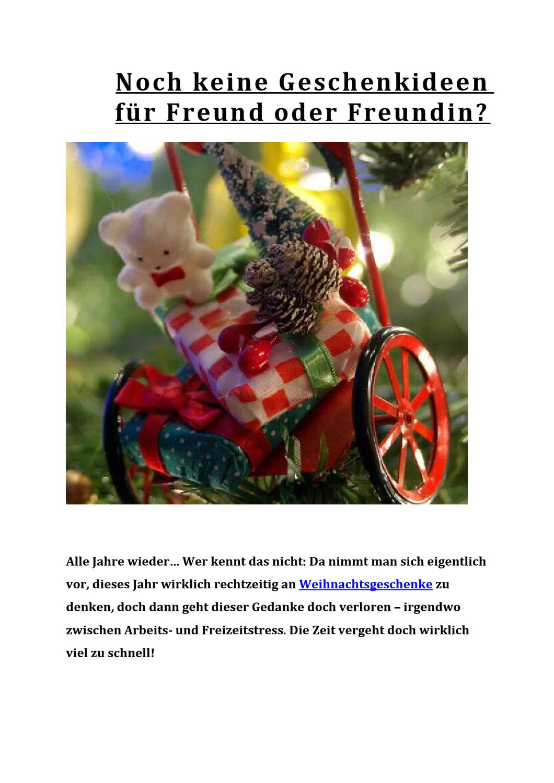 Noch keine Geschenkideen für Freund oder Freundin? by Katharina ...