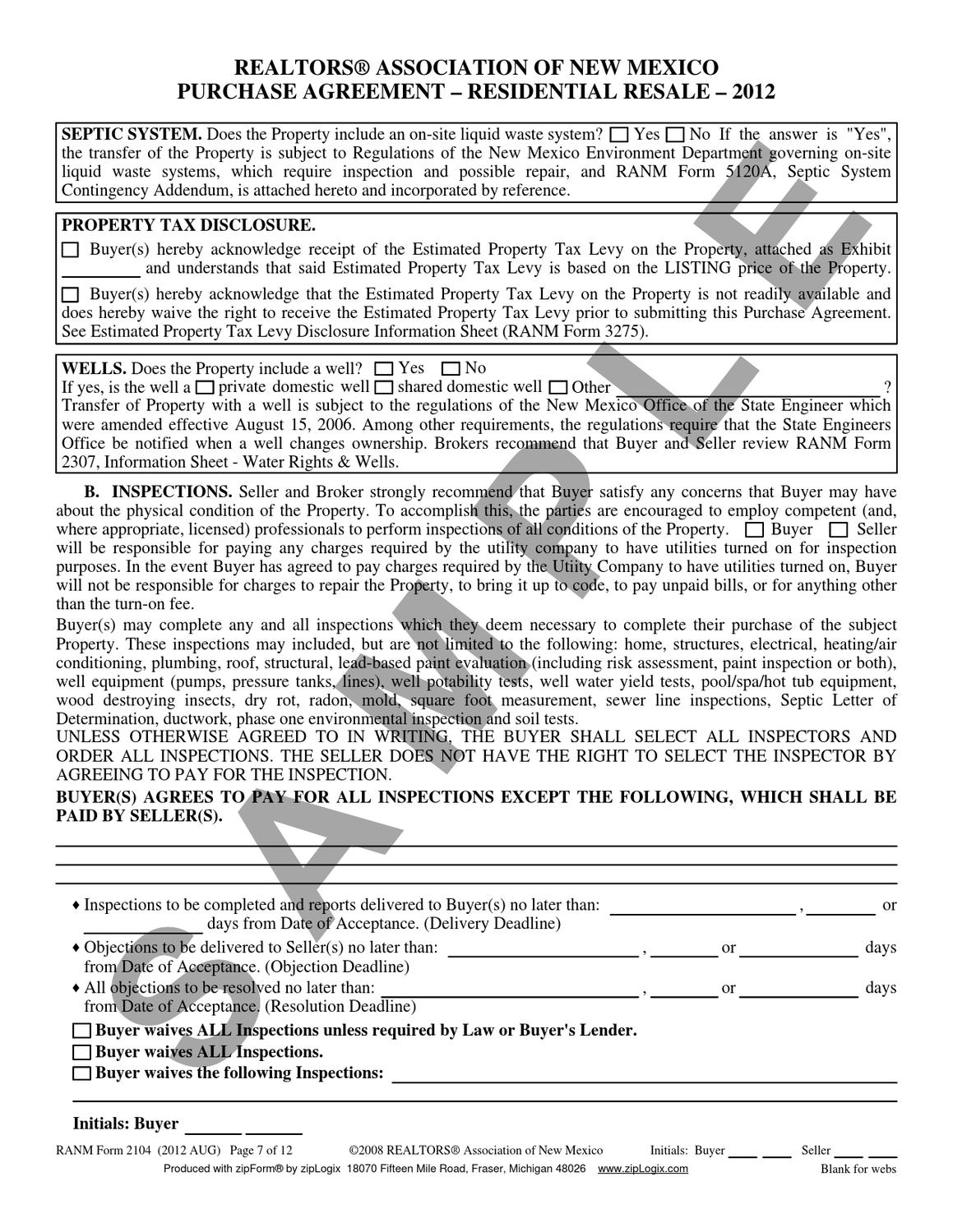 Purchase Agreement Sample For New Mexico By Carol Skees Issuu