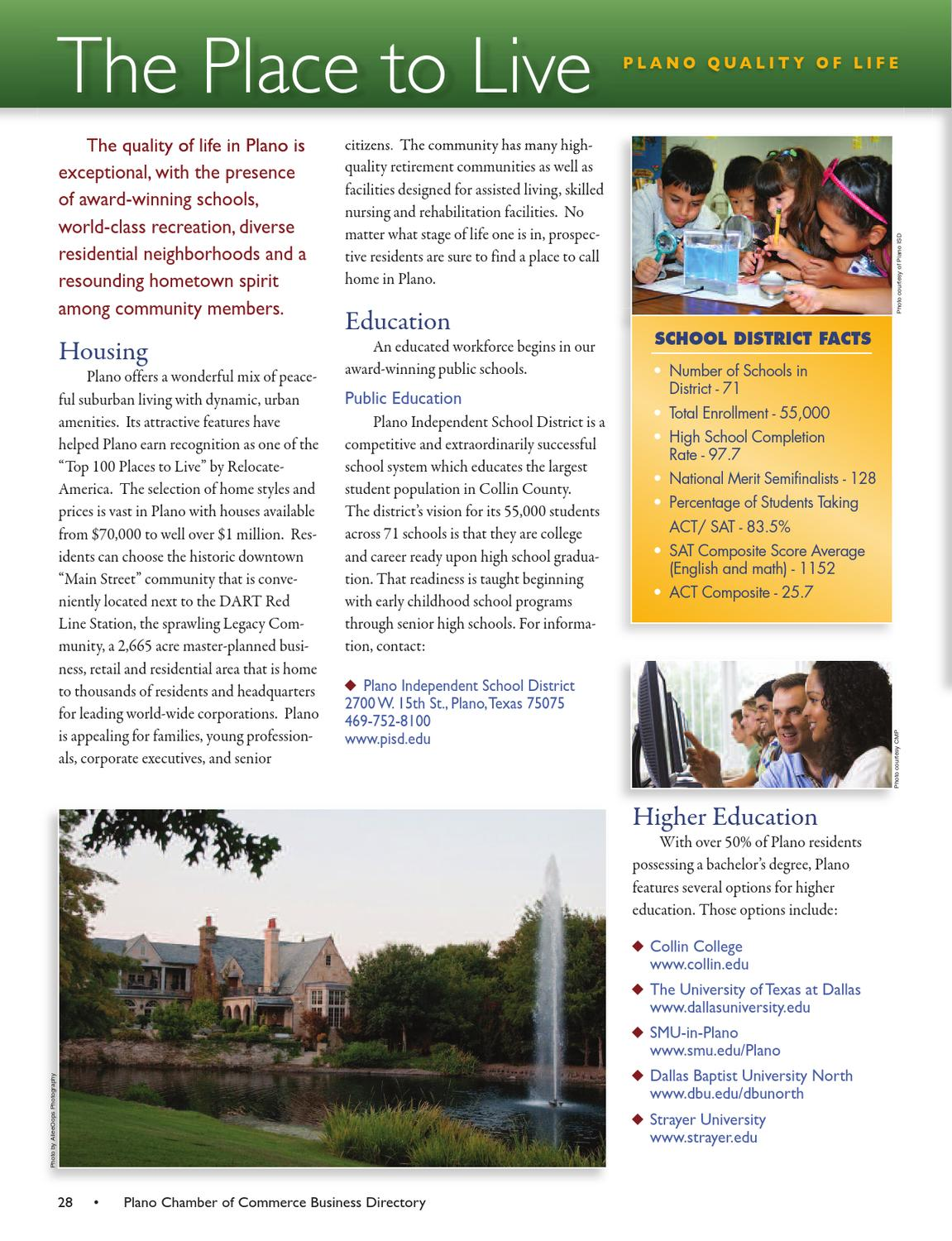 Plano Chamber of Commerce Community Guide & Business
