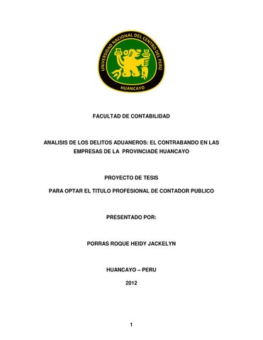 Proyecto de Tesis control aduanero y delitos de ...