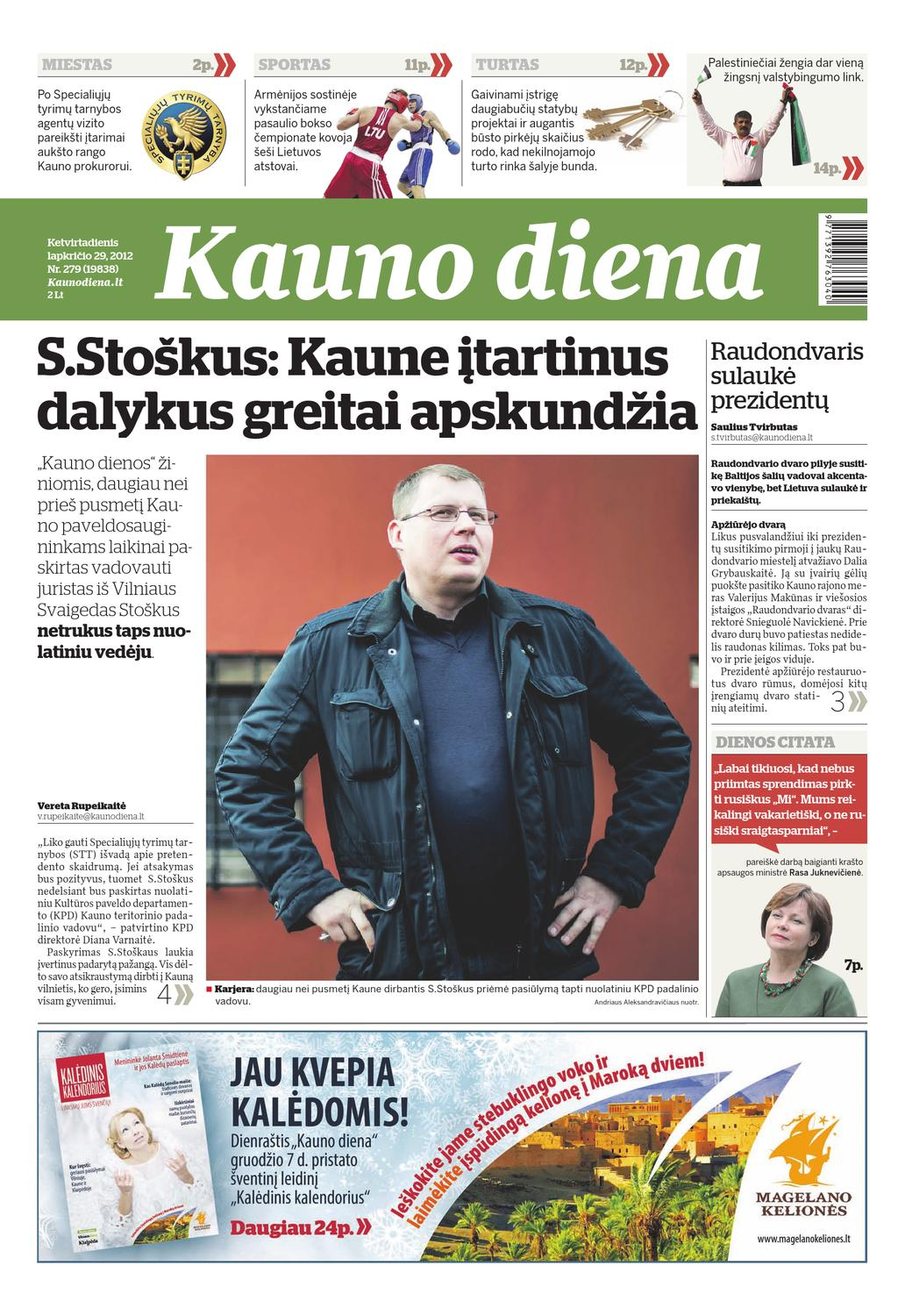 2012-11-29 Kauno diena by Diena Media News - issuu