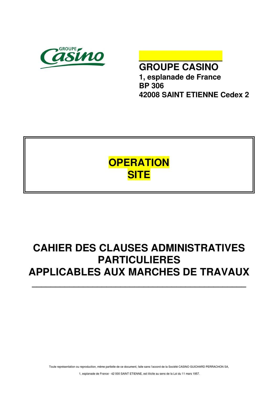 groupe casino 1 esplanade de france