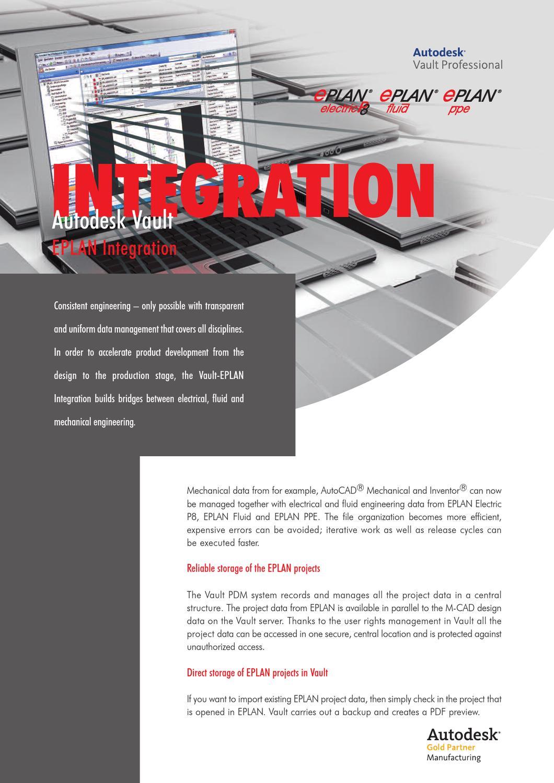Eplan Integration Autodesk Vault By Software Service E Plan Electrical Netherlands Issuu
