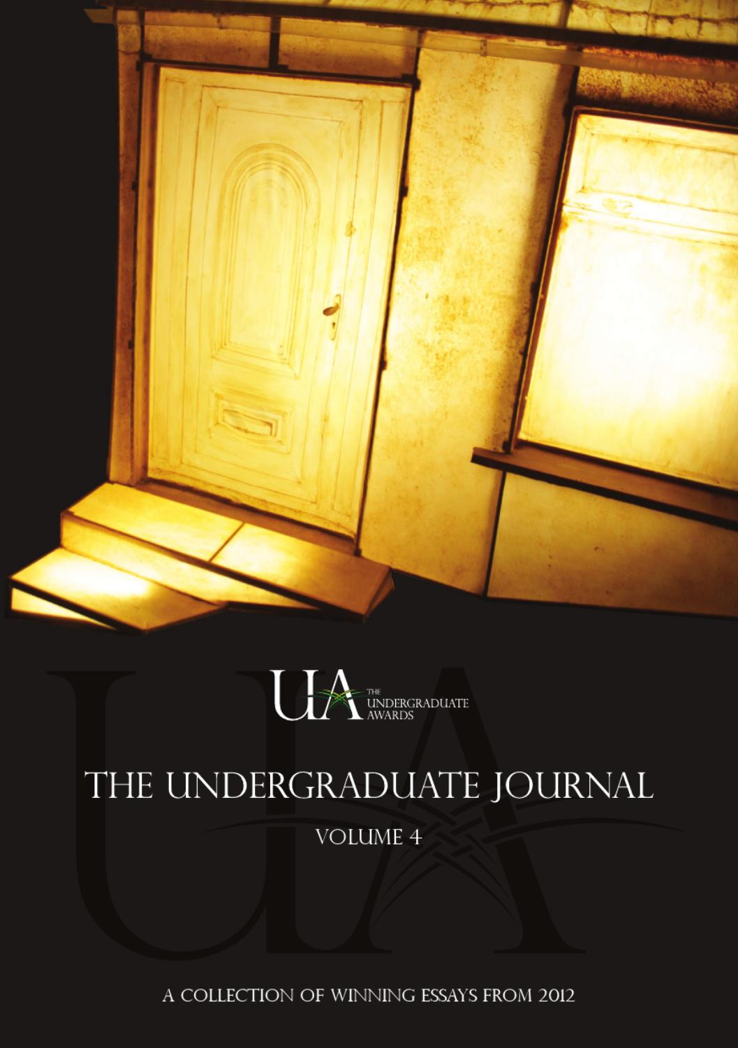 undergraduate journal vol by the undergraduate awards issuu