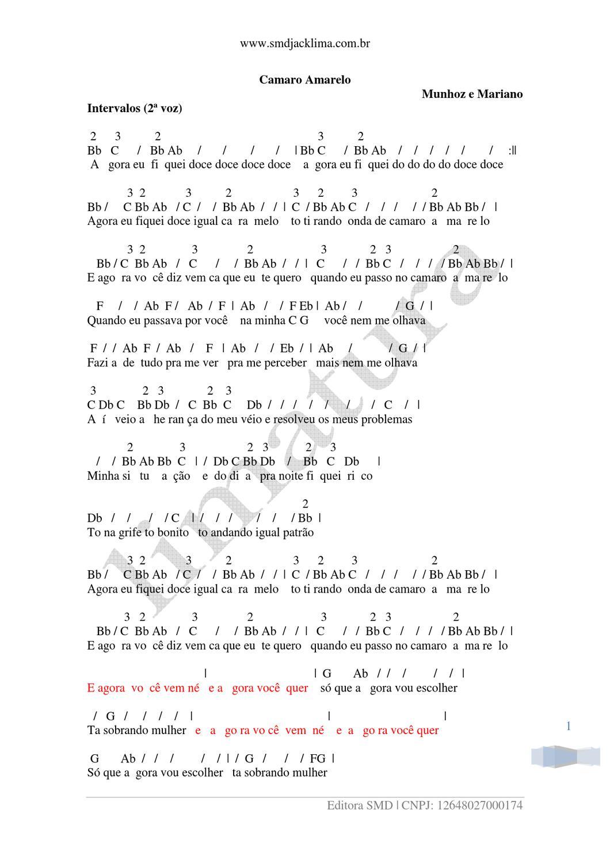 DOCE CAMARO MUSICA BAIXAR DOCE AMARELO