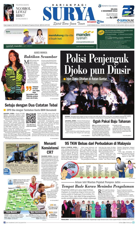 E Paper Surya Edisi 4 Desember 2012 Timberland Tbl14655js 07 Jam Tangan Pria Coklat Muda