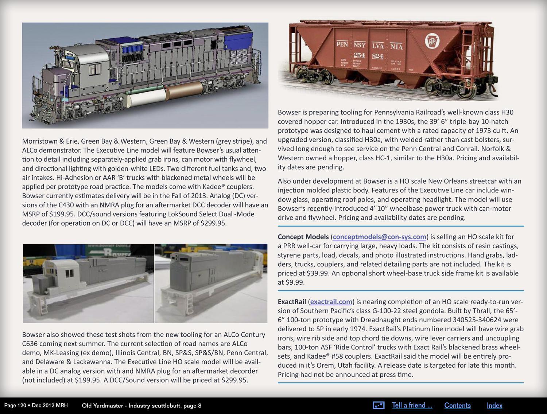 MRH Dec 2012 - Issue 34 by Model Railroad Hobbyist magazine