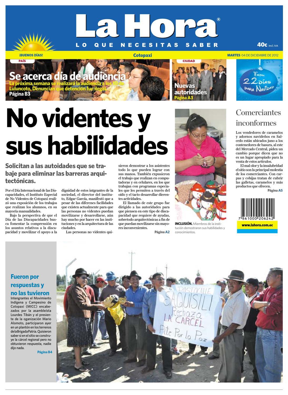 Edición impresa Cotopaxi del 4 de diciembre de 2012 by Diario La ...