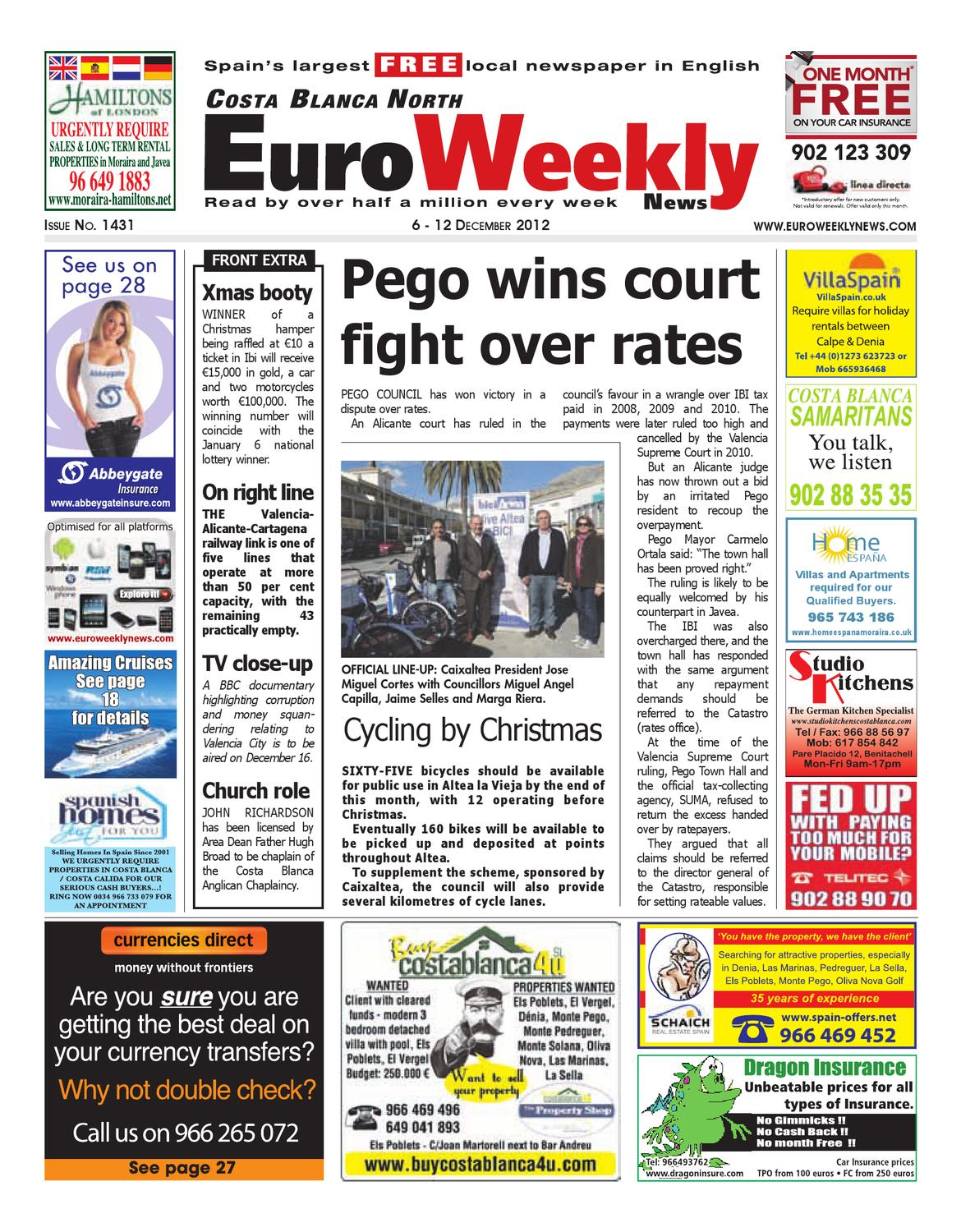Costa Blanca North December Issue By Euro Weekly - What is a deposit invoice rocco's online store