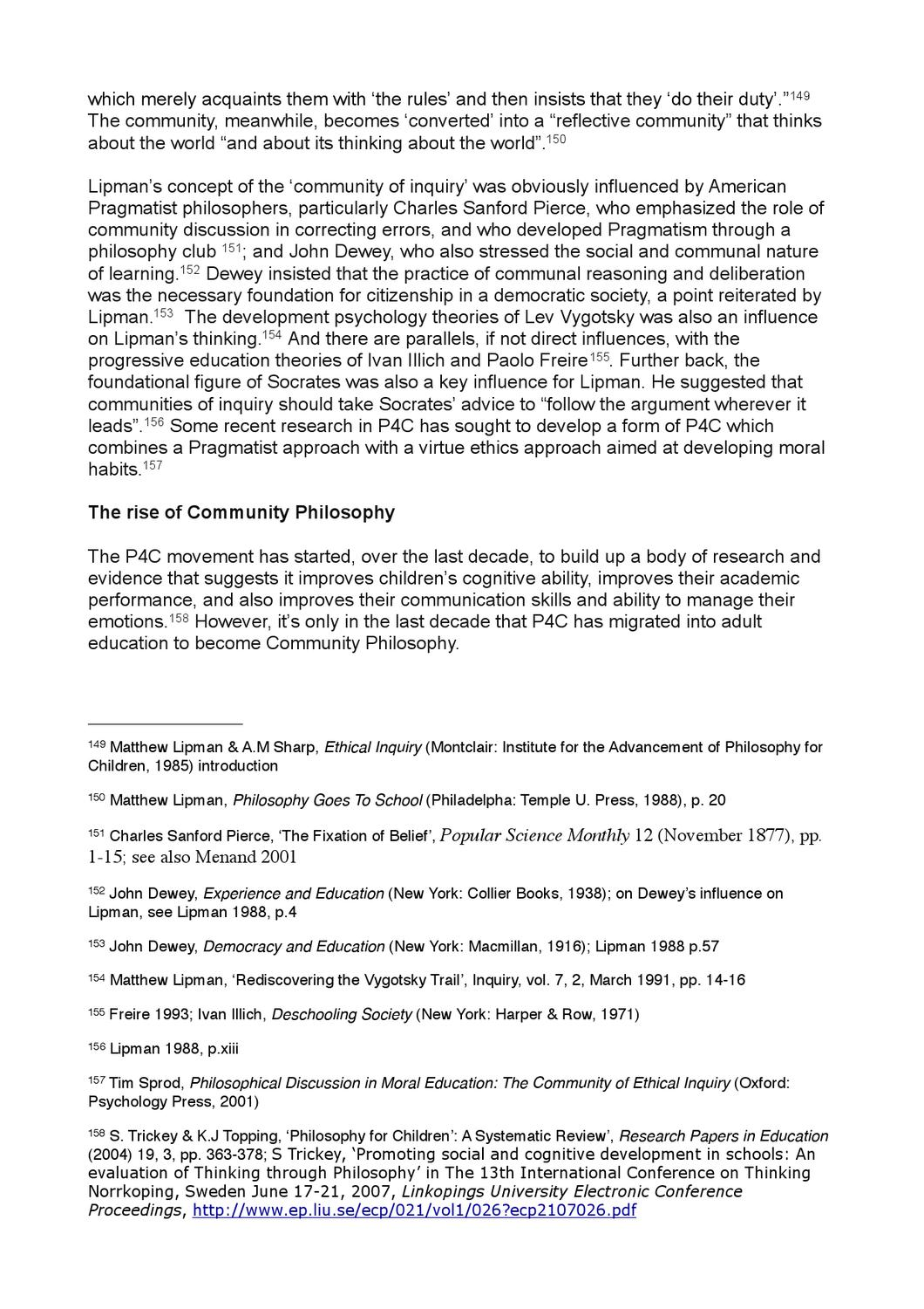 Philosophical Discussion in Moral Education: The Community of Ethical Inquiry