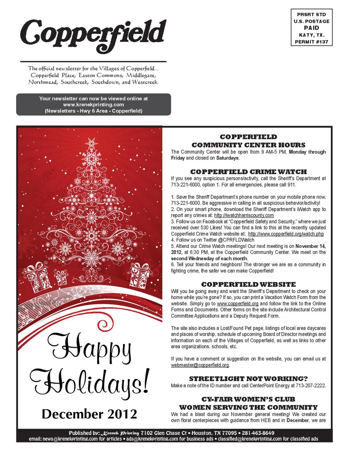 Copperfield Dec12 by Krenek Printing issuu