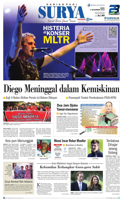 E Paper Surya Edisi 5 Desember 2012 By Harian Issuu Penutup Toilet Duduk Otomatis Izen Ib 450