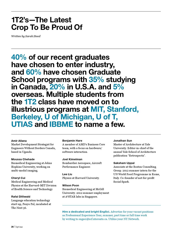 Opt!ons Alumni Magazine 2012 by Sarah Steed - issuu