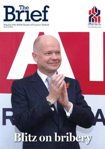 Magazine of the British Chamber of Commerce Thailand Issue 6/2012