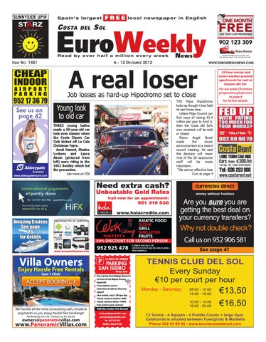 1f0aa2079870b Costa del Sol 6 - 12 December 2012 Issue 1431 by Euro Weekly News ...