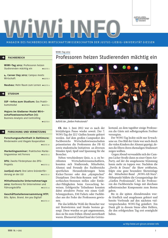 WiWi INFO Nr.1-2012 by Fachbereich Wirtschaftswissenschaften der  Justus-Liebig-Universität Gießen - issuu