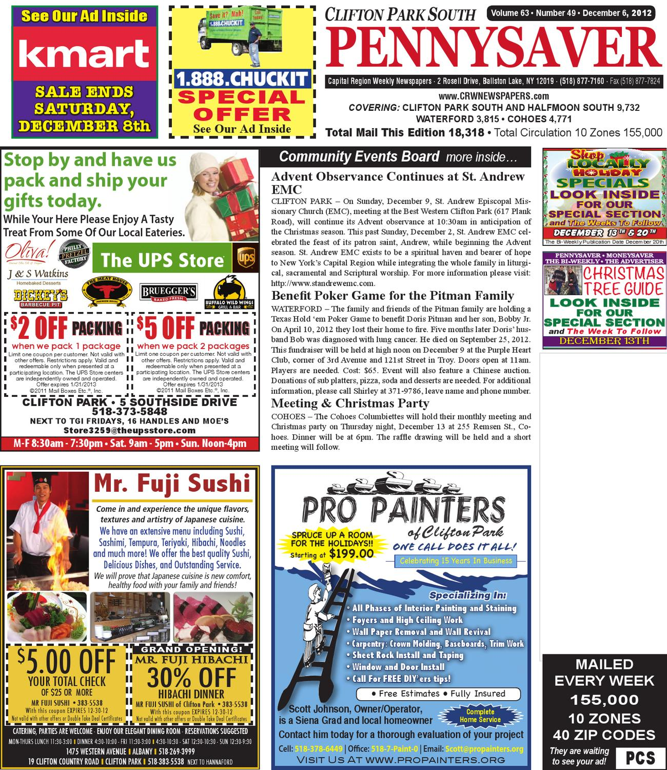 Clifton Park South Pennysaver 120612 by Capital Region Weekly ...