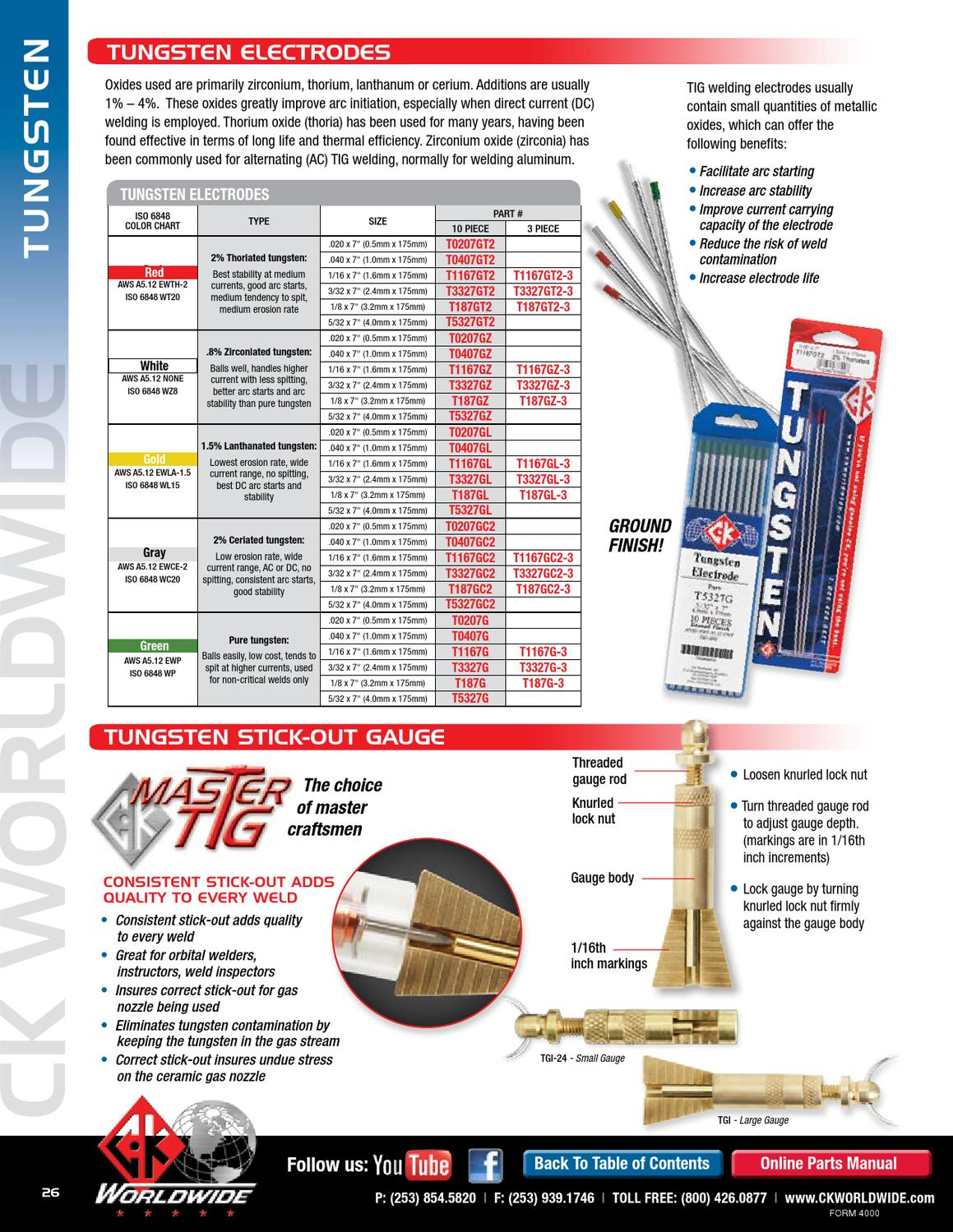 "10pk TIG Welding Tungsten Electrode 1.5/% Lanthanated WL15 Gold .040/""~5//32/"" x7/"""
