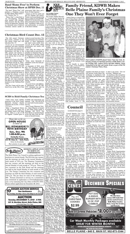 Dec 5, 2012 Belle Plaine Herald by Belle Plaine Herald - issuu