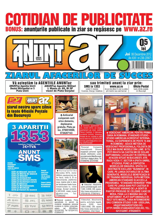 Anuntaz 6 Decembrie 2012 By Anunt Az Issuu