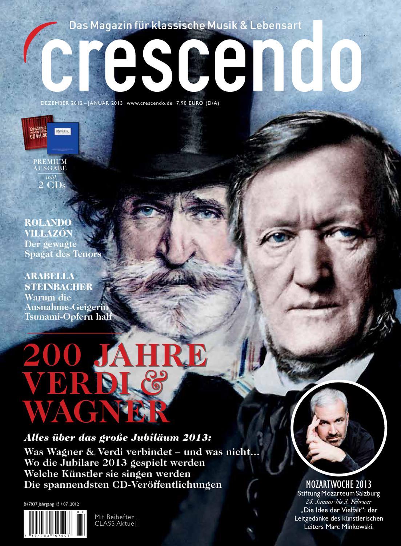 Crescendo 72012 Premium Ausgabe Dezember 2012 Januar