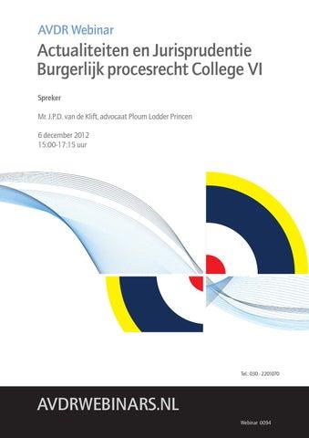 Avdr Webinar By Academie Voor De Rechtspraktijk Issuu