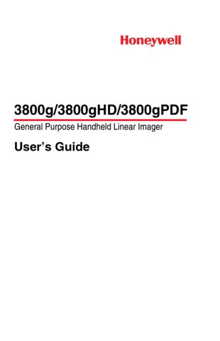 honeywell 3800 user guide by spirit data capture limited issuu rh issuu com Honeywell 3800G Scanner Honeywell 3800G Scanner