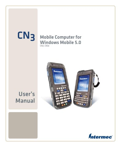 intermec cn3 wm5 user manual by spirit data capture limited issuu rh issuu com Windows Mobile 7 Windows Mobile 1