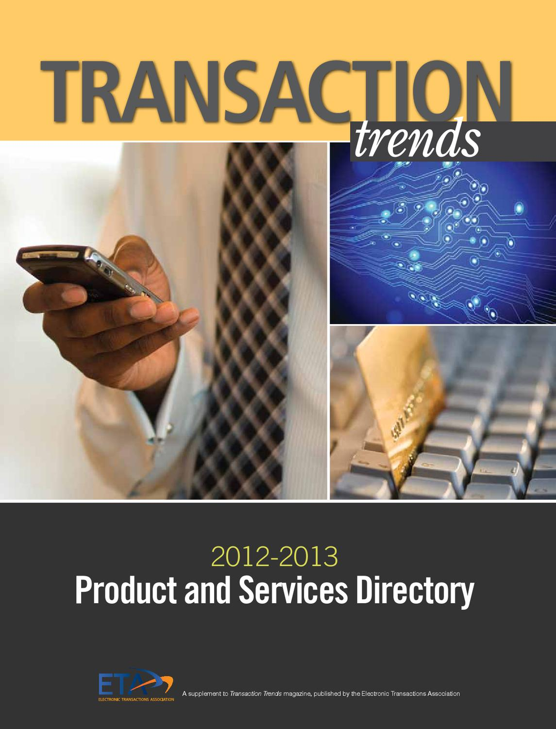 Transaction Trends Product and Services Directory 2013 by