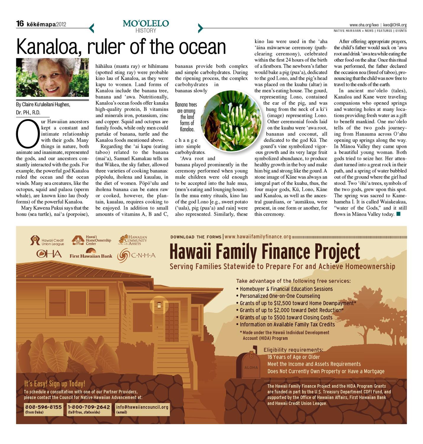 KWO - December 2012 | Vol  29, No  12 by Ka Wai Ola o OHA
