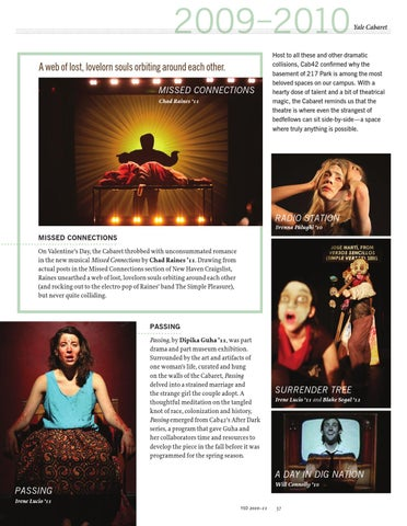 YSD Annual Magazine 2010 by Yale Repertory Theatre - issuu