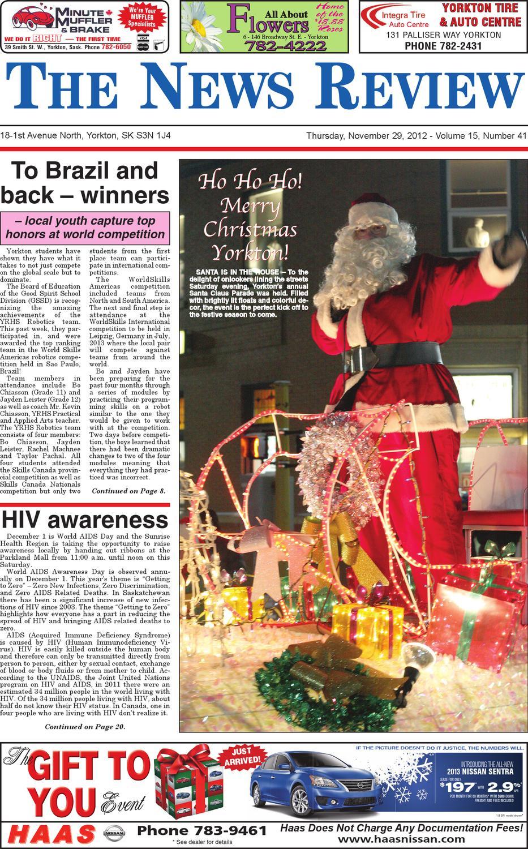 Yorkton News Review - November 29, 2012 by Yorkton News