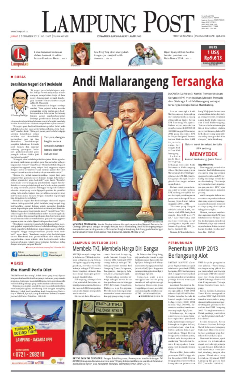 Lampung Post Edisi Jumat 07 Desember 2012 By Issuu Produk Ukm Bumn Tas Phiton Kombinasi Coklat Krem