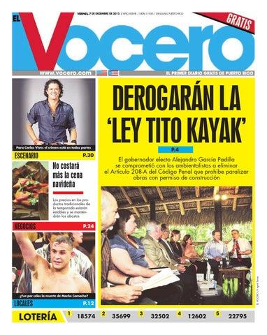 0dd530db08 Edición 7 de Diciembre 2012 by El Vocero de Puerto Rico - issuu