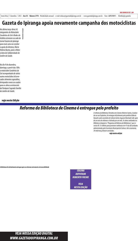 e085c5f84 Gazeta do IPiranga - Edição de 07 12 2012 by Casé Oliveira - issuu