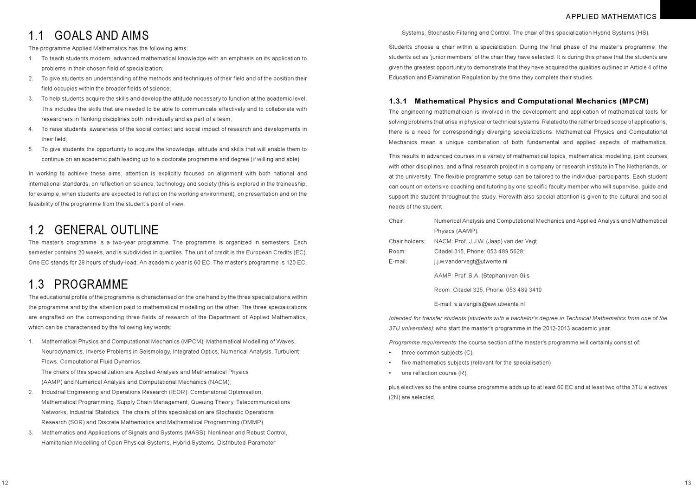 Applied Mathematics by University of Twente - issuu