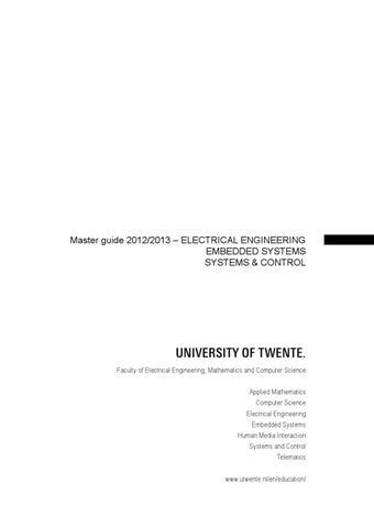 master thesis utwente ctw