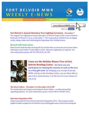 Fort Belvoir MWR News - December 7 by Fort Belvoir DFMWR - issuu
