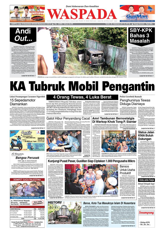 Waspada Sabtu 8 Desember 2012 By Harian Issuu Produk Ukm Bumn Tas Ransel Threepoint
