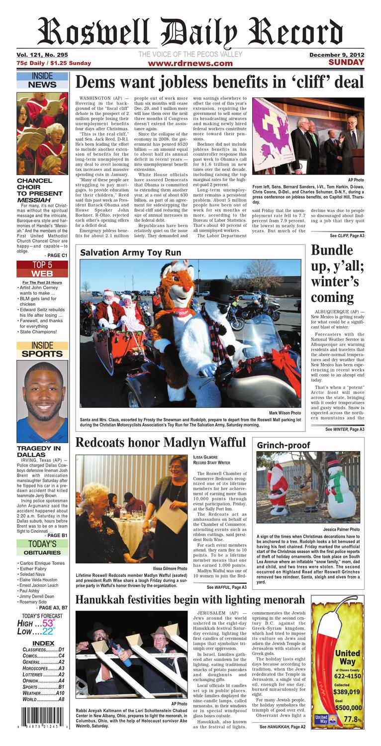 12-09-12 rdr news by Roswell Daily Record - issuu