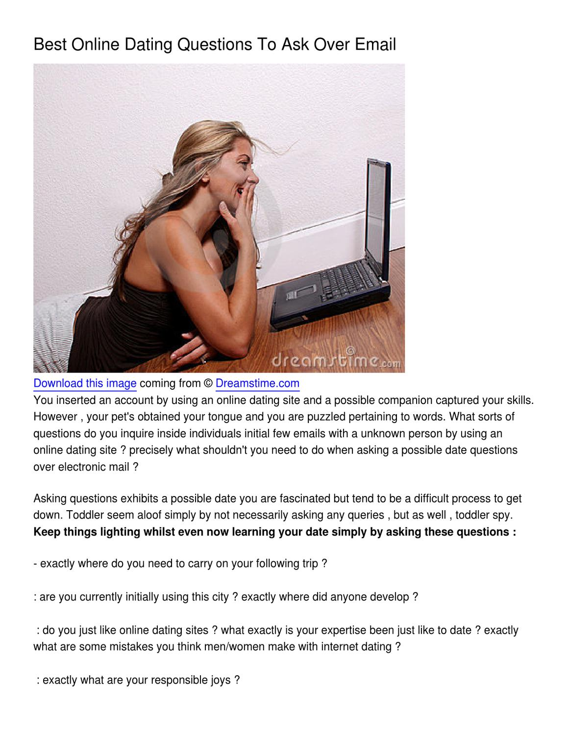 Good online dating questions for men