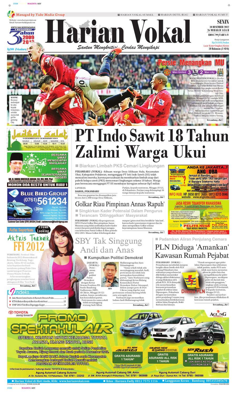 Harian Vokal Edisi 10 Desember 2012 By Riau Publisher Issuu Produk Ukm Bumn Kain Batik Middle Premium 3 Bendera 01