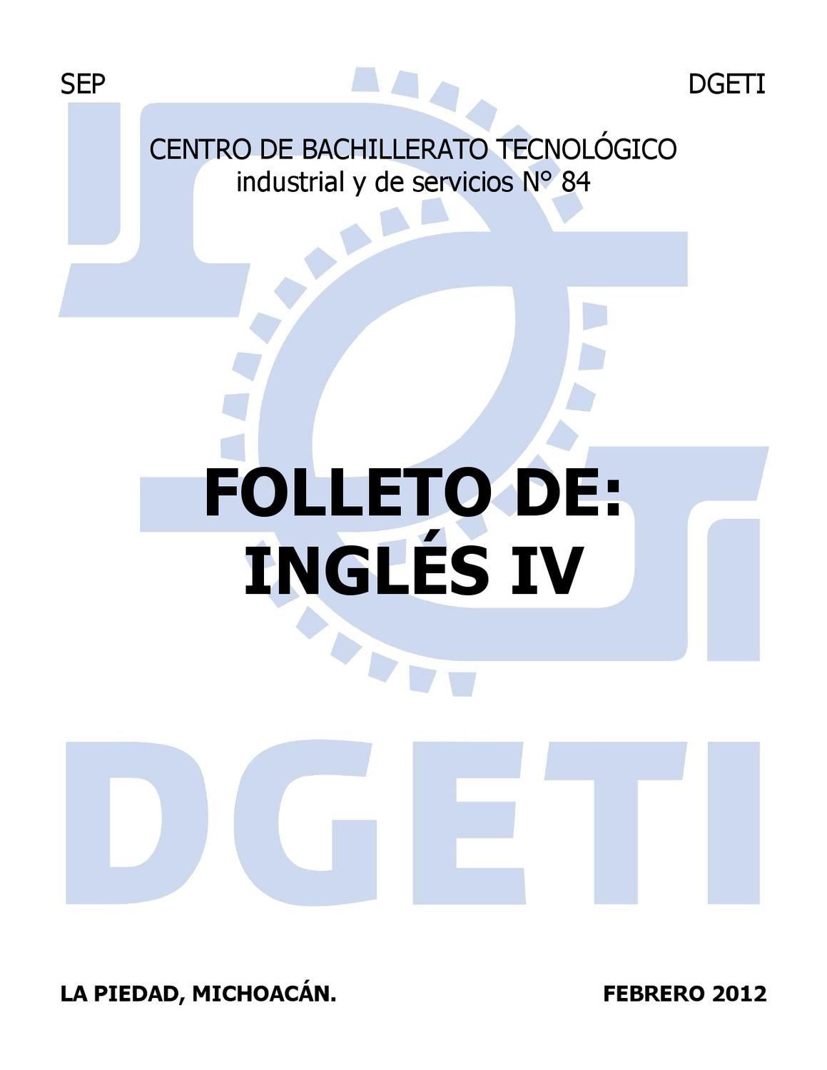 Folleto De Inglés Iv 2012 By Ricardo Chávez Issuu