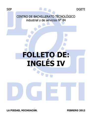 Folleto De Inglés Iv 2012 By Ricardo Chávez Issuu