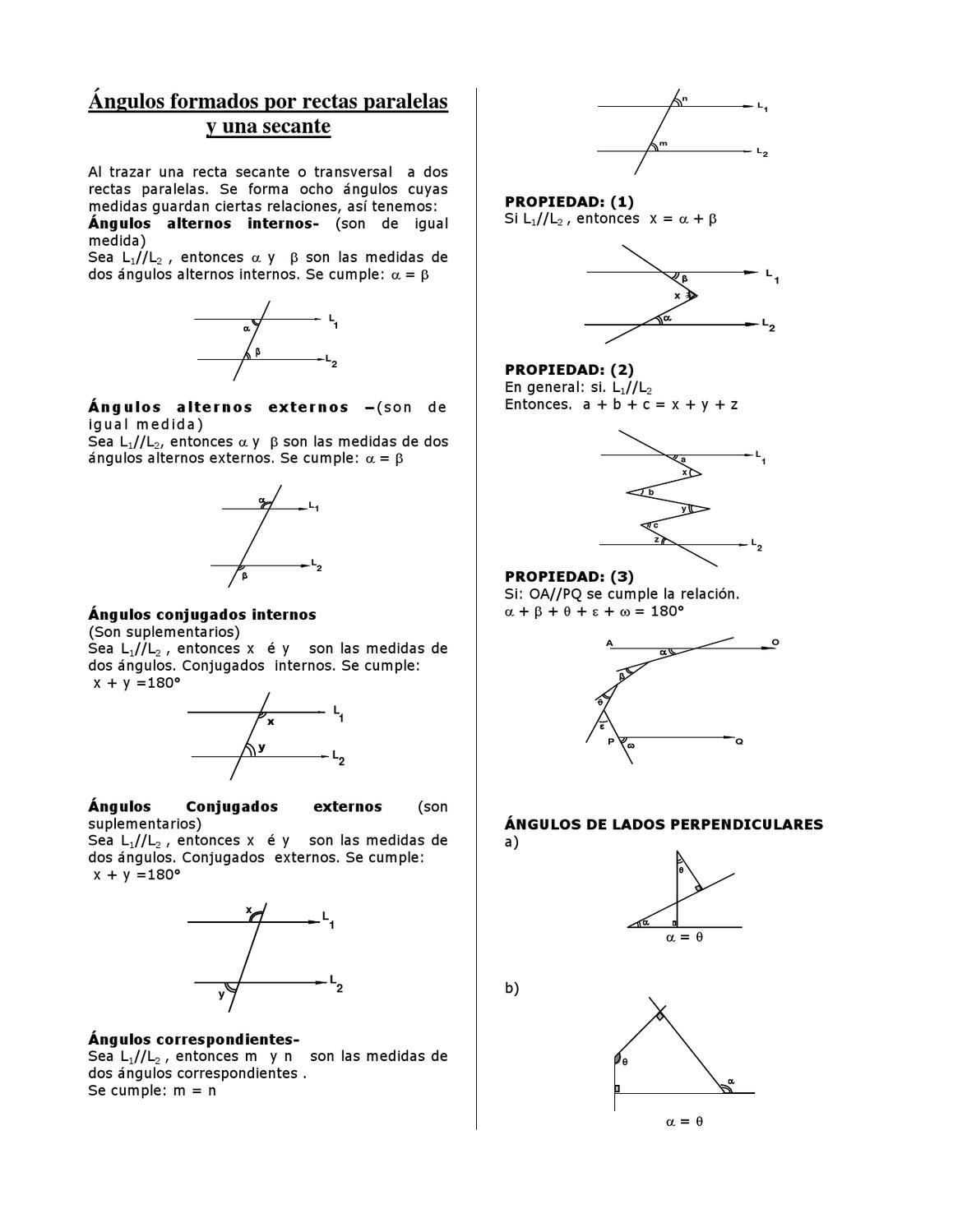 Ngulos Formados Por Rectas Paralelas Y Una Secante By